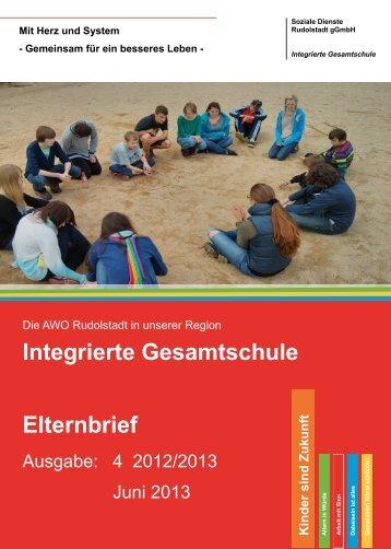 Elternbrief 4/2013 - AWO Rudolstadt