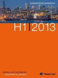 Hapag Lloyd Zwischenbericht H1 2013