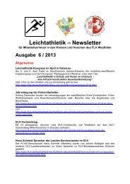 FLVW-Newsletter 6-2013 - Dortmunder Leichtathletik