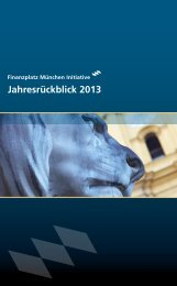 fpmi Jahresrückblick 2013 - Finanzplatz München Initiative
