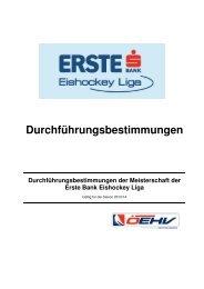 Durchführungsbestimmungen der Erste Bank Eishockey Liga