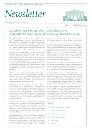 Ghorfa Newsletter 12/2013