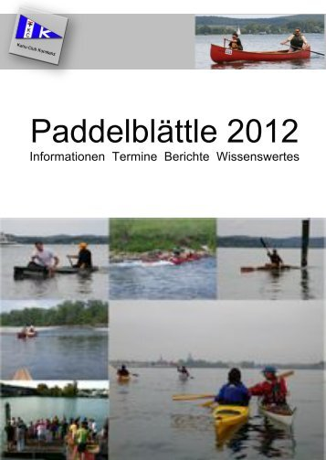 Paddelblättle 2012 - Kanu Club Konstanz eV