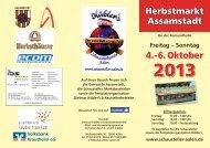 4.-6. Oktober Herbstmarkt Assamstadt