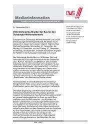 Diese Medieninformation als PDF (167 KB) - DVG Duisburger ...