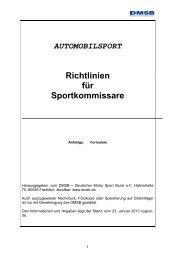 Richtlinien für Sportkommissare - DMSB
