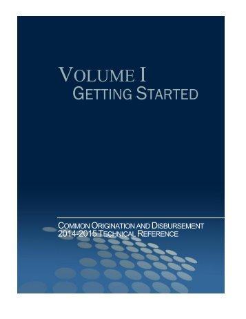 VOLUME I - IFAP - U.S. Department of Education