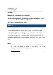 - BOVESPA segment registers record number of ... - BM&FBovespa