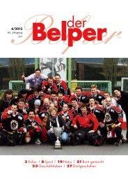 3 Kultur | 8 Sport | 19 Natur | 21 Bunt gemischt 23 ... - Der Belper