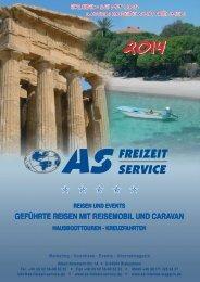 Reisekatalog 2014 als PDF - AS Freizeit Service