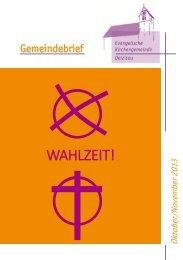 Gemeindebrief 2013 Oktober/November - Evangelische ...