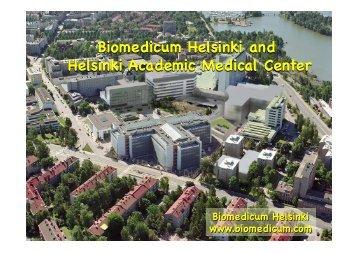Biomedicum Helsinki 15.5.2013.pptx - Helsinki.fi