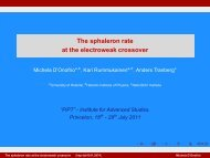 The sphaleron rate at the electroweak crossover - Helsinki.fi