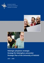 Helsingin yliopiston strategia 2007-2009, Strategi för ... - Helsinki.fi