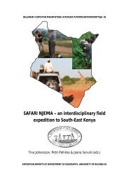 SAFARI NJEMA – an interdisciplinary field expedition to ... - Helsinki.fi