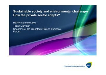 Sustainable society and environmental challenges: How ... - Helsinki.fi