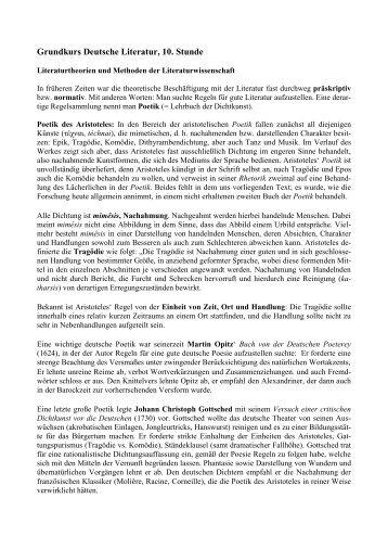 Grundkurs Deutsche Literatur, 10. Stunde - Helsinki.fi