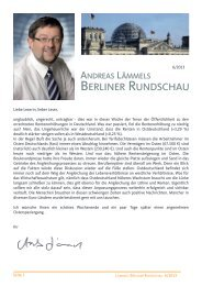 BERLINER RUNDSCHAU - Lämmel, Andreas