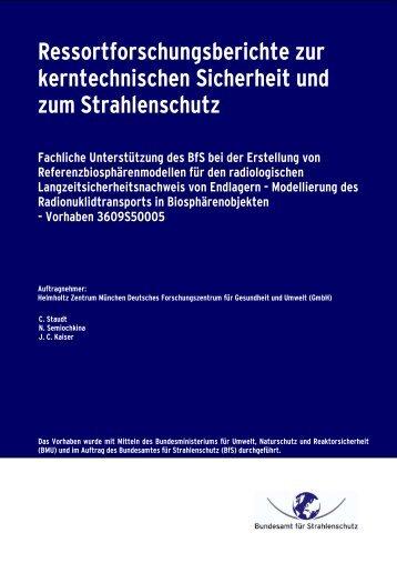 Ressortforschungsberichte zur kerntechnischen Sicherheit ... - DORIS
