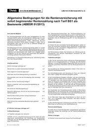 Allgemeine Bedingungen für die Rentenversicherung mit ... - Debeka