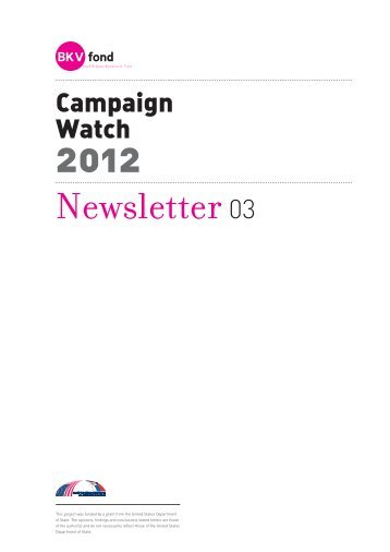 NEWSLETTER No. 3 - (pdf - 618kb) - Helsinki Committee for Human ...