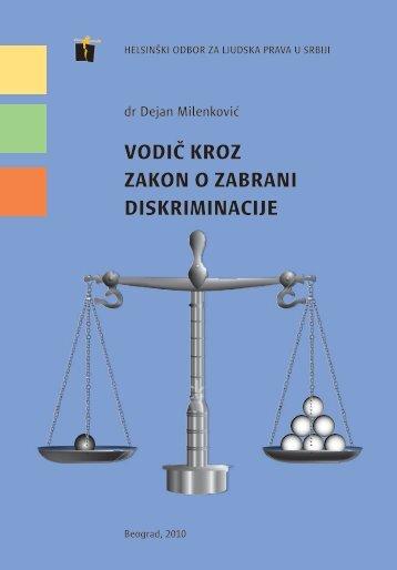 Vodič kroz zakon o zabrani diskriminacije
