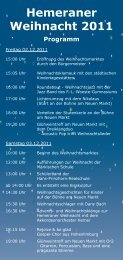 Weihnachtsprogramm 2011.indd - Hemer