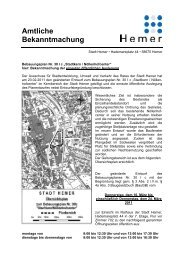 Bekanntmachung 30 I c - Hemer