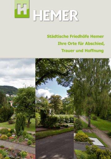 Broschüre Städtische Friedhöfe.pdf Dateigröße - Hemer