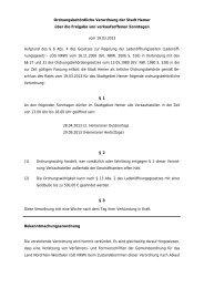 Ordnungsbehördliche Verordnung der Stadt Hemer über die ...