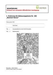 Entwurf der Begründung mit Artenschutzprotokoll - Hemer