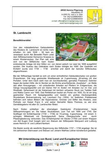 Benediktinerabtei - Hemma Pilgerweg