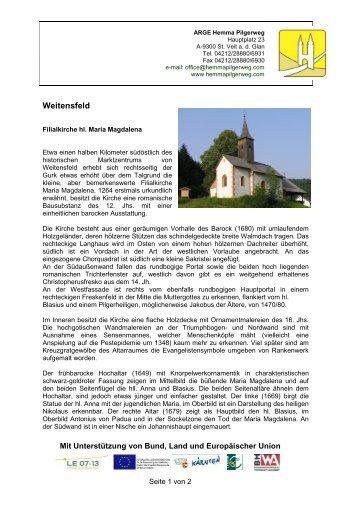 Filialkirche hl. Maria Magdalena - Hemma Pilgerweg