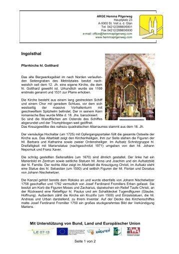 Pfarrkirche hl. Gotthard - Hemma Pilgerweg