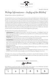 Wichtige Informationen – Ausflug auf den Milchhof - bei Hemme ...