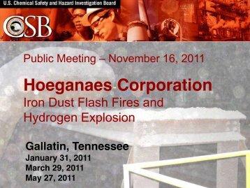 CSB presentation - Industrial Fire Journal