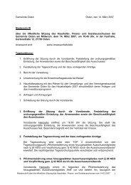 Gemeinde Osten Osten, den 14. März 2007 Niederschrift über die ...