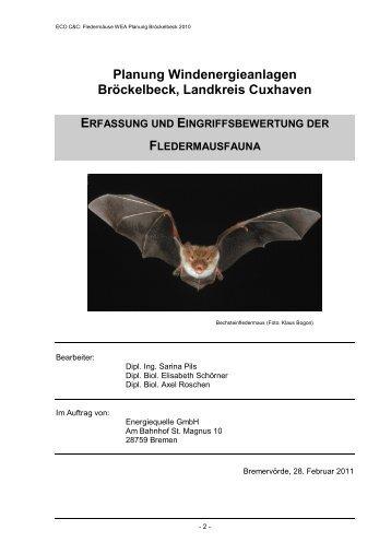 Planung Windenergieanlagen Bröckelbeck, Landkreis Cuxhaven
