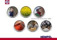 Hempel Corporate Responsibility Report 2011
