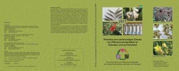 Hinweise zum sachkundigen Einsatz von Pflanzenschutzmitteln im ...