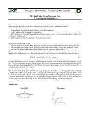 Physikalische Grundlagen zu den Wechselstrom-Versuchen