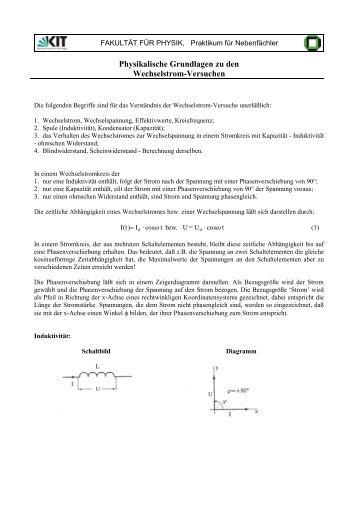 1. Leistung bei Wechselstrom Grundlagen - IEM