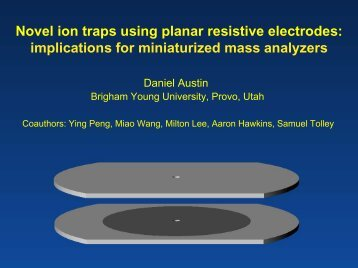Novel ion traps using planar resistive electrodes: implications for ...
