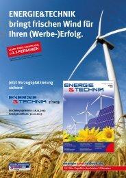 ENERGIE&TECHNIK bringt frischen Wind für Ihren (Werbe-)Erfolg.