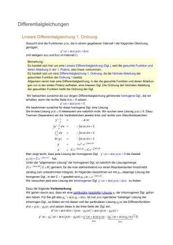 Differentialgleichungen (PDF)