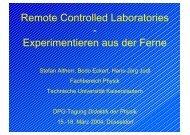 Remote Controlled Laboratories - Experimentieren aus ... - Hemsuth