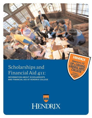 Download Scholarships and Financial Aid Brochure - Hendrix College