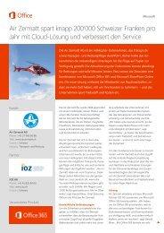 Air Zermatt hebt ab mit Office 365 - IOZ AG