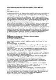 Bericht vom 07 05 2013 - Epfendorf