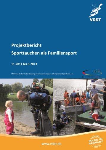 tauchen – ein familiensport - Der Deutsche Olympische Sportbund